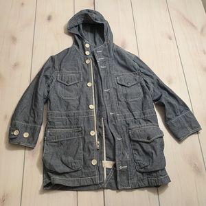 girls S gap kids jean jacket with hood